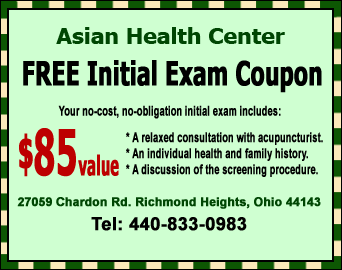Cleveland Acupuncture FREE Initial Exam Coupon